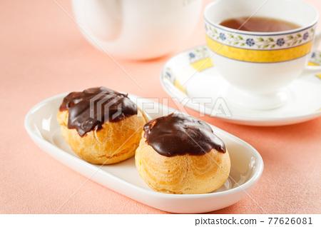 奶油泡芙 甜點 甜品 77626081