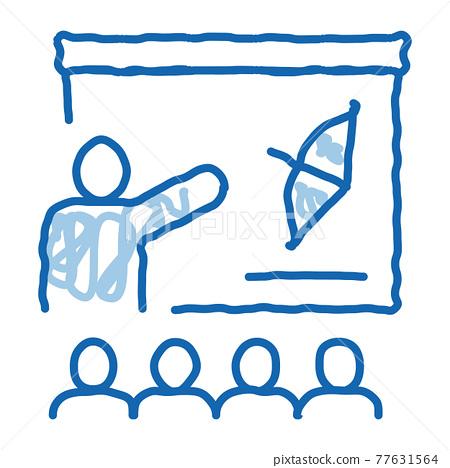 Archery Lesson Education doodle icon hand drawn illustration 77631564