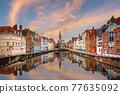 Bruges, Belgium Canals at Dusk 77635092