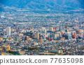 Kofu, Yamanashi, Japan Cityscape at Dusk 77635098