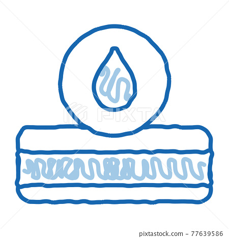 Mattress Water Drop doodle icon hand drawn illustration 77639586