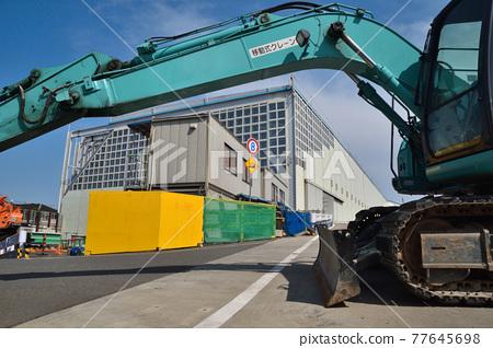 power shovel, construction site, construction sites 77645698