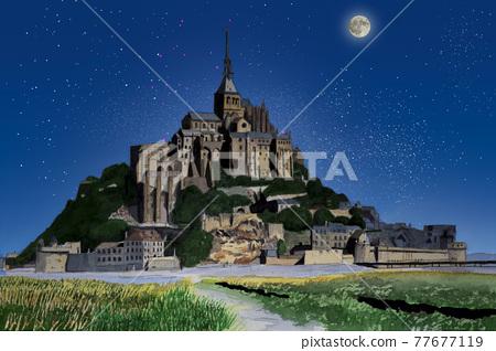 mont st michel, abbey, convent 77677119