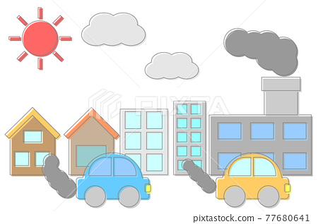 온실 가스의 원인의 거리 풍경 77680641