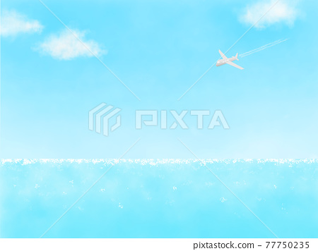 Sky and sea. 77750235
