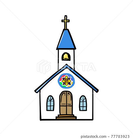 Realistic church illustration 77783923