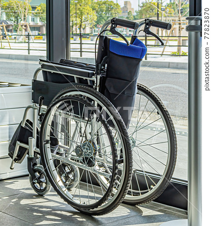 This facility provides a brand new wheelchair for the less fortunate. 77823870