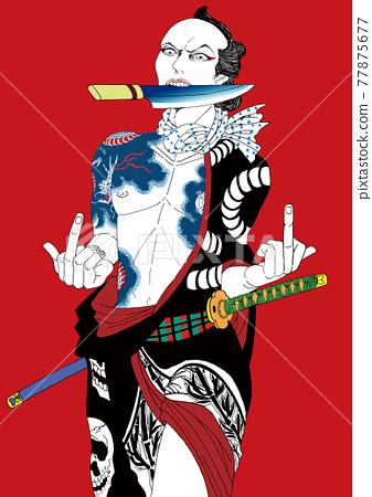 samurai, ukiyo-e, gents 77875677