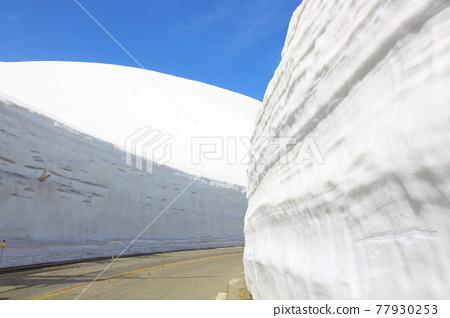 snowy, winter, kurobe 77930253