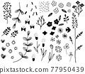 line drawing, handwritten, vector 77950439