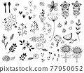 line drawing, monochrome, monochromatic 77950652