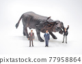 a figure with Bull Market at white background 77958864