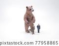 an Investment bear market concept, bear figure 77958865