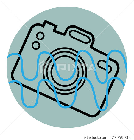 Icon of the camera fallen into the water 77959932