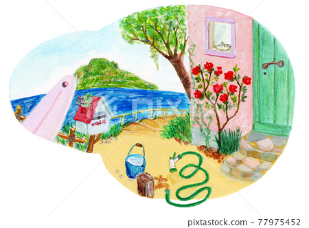 A landscape with a garden 77975452