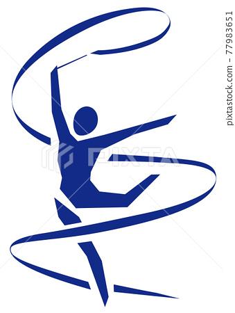 Rhythmic gymnastics ribbon 77983651