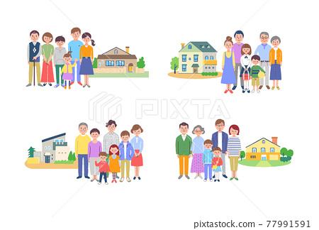3代家庭和房子4套 77991591