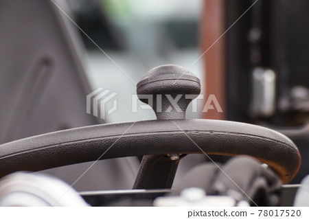 Steering wheel of forklift, vehicle or other industrial machine. Transportation 78017520