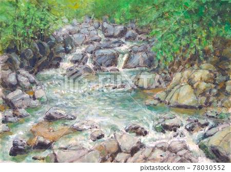 山間小溪的圖片 78030552