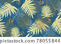 Seamless pattern with tropical leaf palm . Vector illustration. 78055844