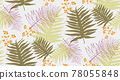 Seamless pattern with tropical leaf palm . Vector illustration. 78055848