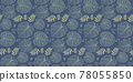 Seamless pattern with tropical leaf palm . Vector illustration. 78055850