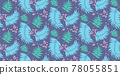 Seamless pattern with tropical leaf palm . Vector illustration. 78055851
