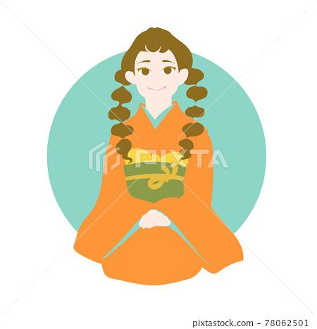 Adult Furisode Female_Orange 78062501