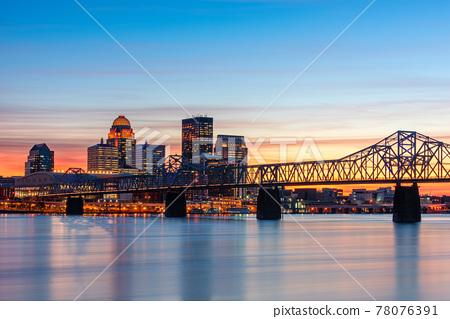 Louisville, Kentucky, USA Skyline on the River 78076391