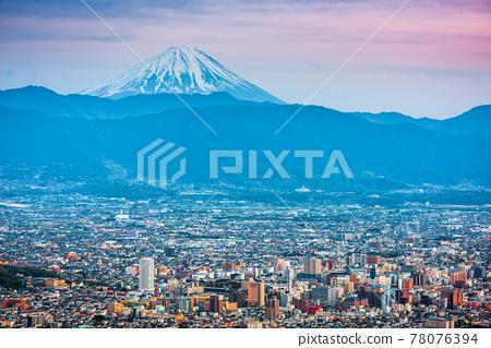 Kofu, Japan skyline with Mt. Fuji 78076394
