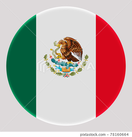 3D Flag of Mexico on circle 78160664