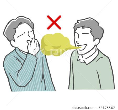 bad breath, smelly, stinky 78173367
