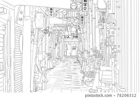 alley, alleyway, city 78206312