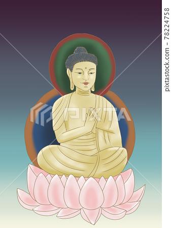 buddha statue, statue, illustration 78224758