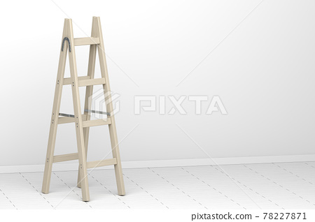 Wood double step ladder 78227871