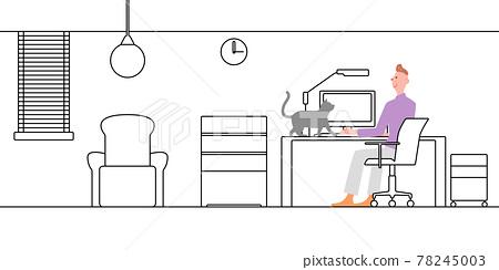 line drawing, vector, vectors 78245003