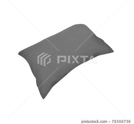 Gray cushion isolated on white background 78308736