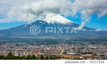 Gotemba City, Japan with Mt. Fuji 78317356