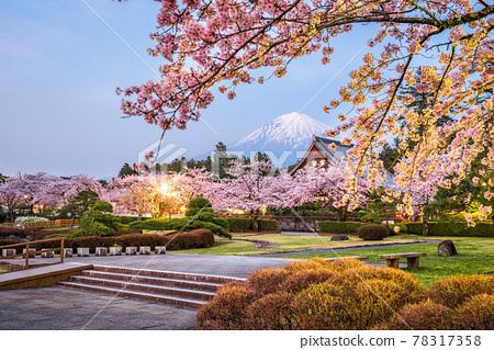 Fujinomiya, Shizuoka, Japan with Mt. Fuji 78317358