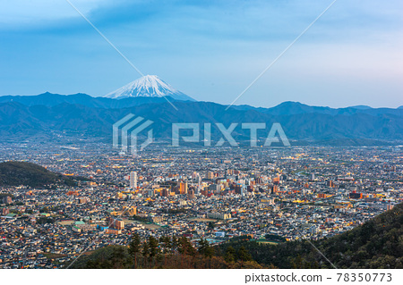 Kofu, Japan skyline with Mt. Fuji 78350773