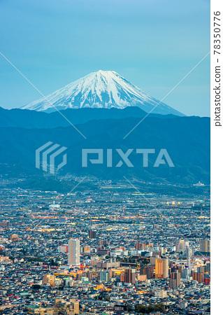 Kofu, Japan skyline with Mt. Fuji 78350776