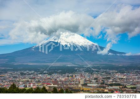 Gotemba City, Japan with Mt. Fuji 78350778