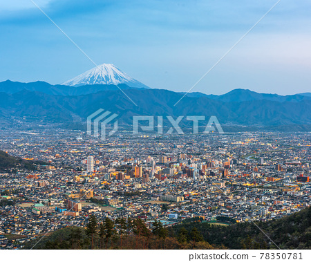 Kofu, Japan skyline with Mt. Fuji 78350781