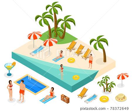 Isometric Island Travel Concept 78372649