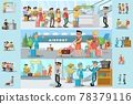 People In Airport Infographic Template 78379116