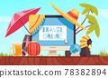 Travel Booking Online Composition 78382894