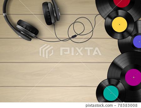 Vinyl Realistic Composition 78383008