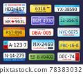 Realistic Car Numbers Set 78383032