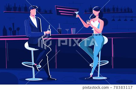 Night Club Bar Composition 78383117