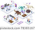 Modern Museum Isometric Concept 78383167